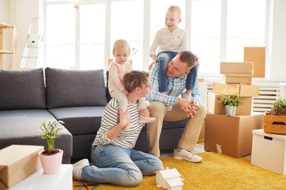 Family preparing for moving