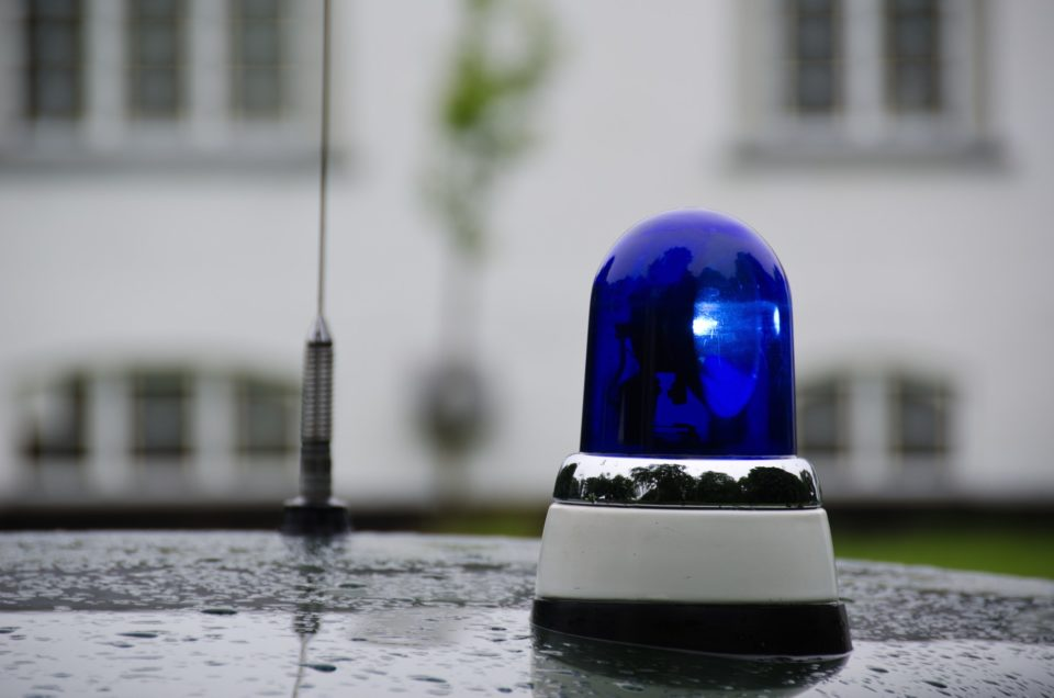 Blue emergency vehicle lighting
