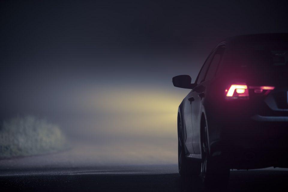 Driving in Dense Fog at Night