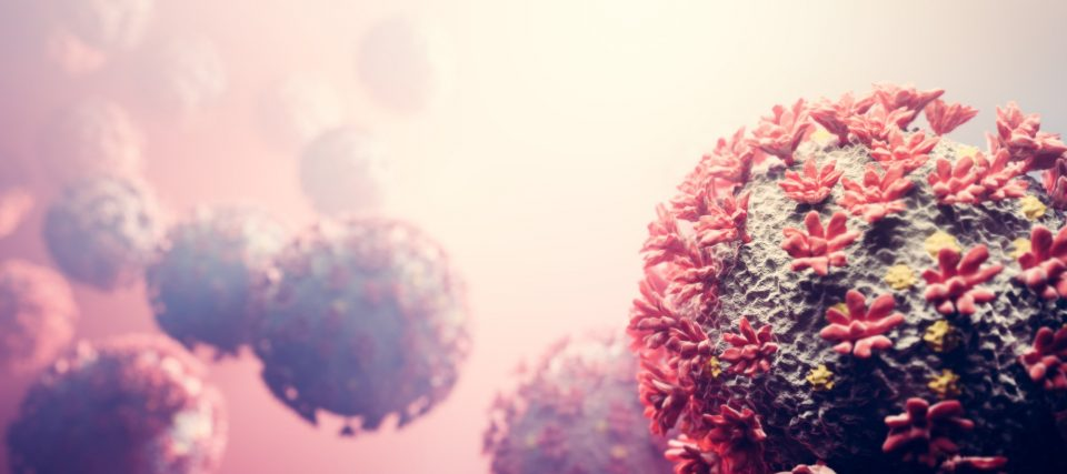 Coronavirus COVID-19 attack organism. Corona virus