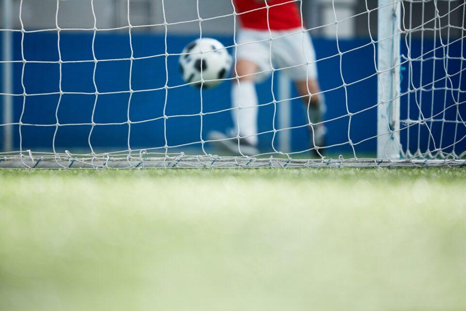 Net on football field