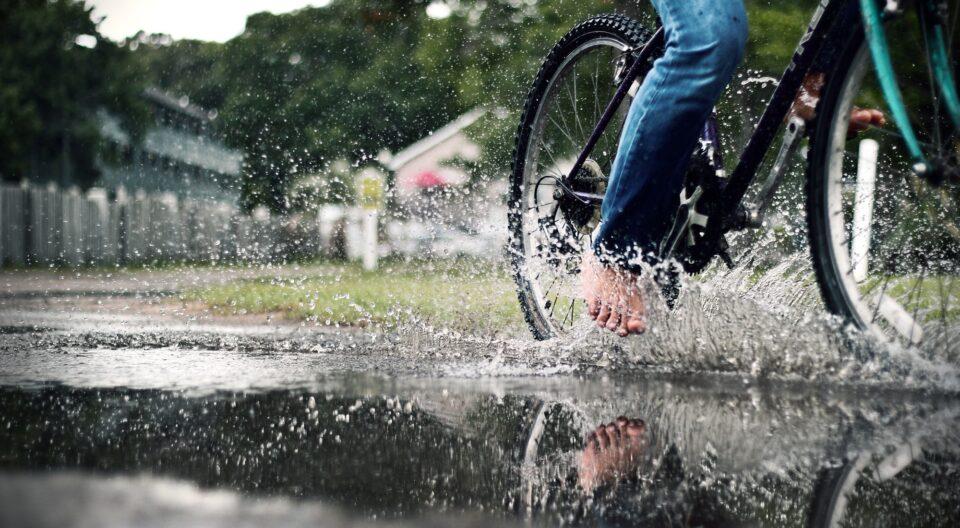 rainy day puddle fun!