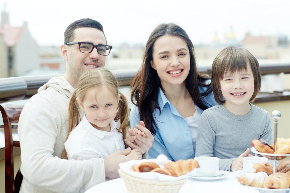 Breakfast of family