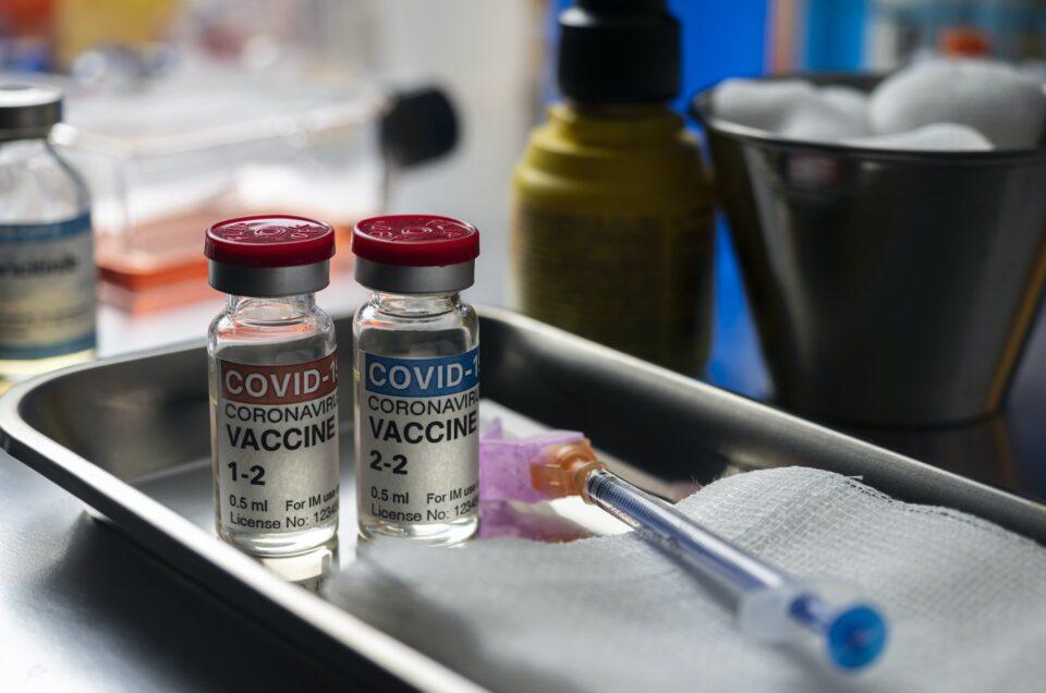 Covid-19 coronavirus vaccine for vaccination plan in twice, conceptual image