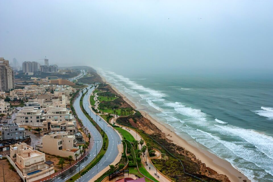 Scenic view of Netanya city, Israel