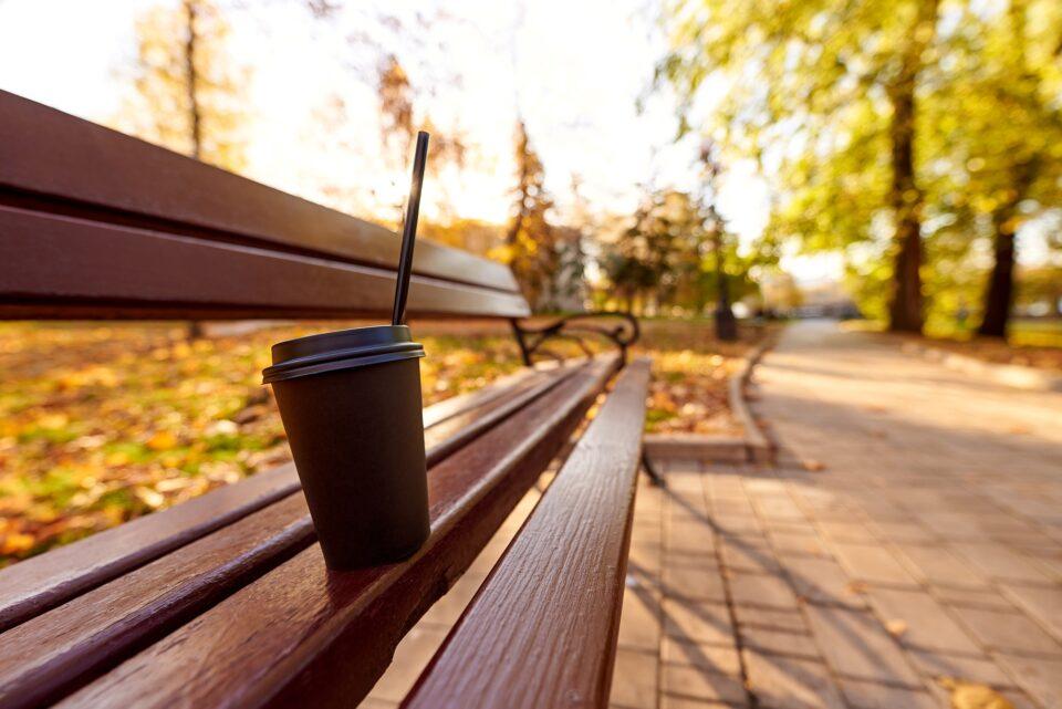 Hot coffee for an autumn walk