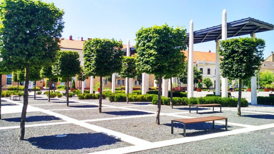 Keszthely, Hungary, pedestrian zone